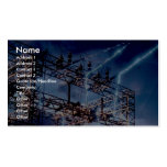 Electrical power substation business cards