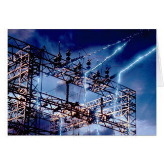 Electrical power substation card