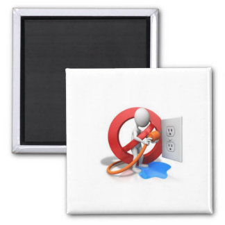 Electrical safety magnet