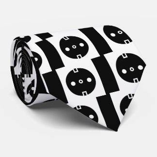 Electrical Sockets Pictograph Tie