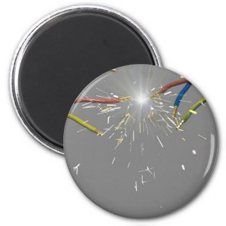 electrical spark 2 inch round magnet