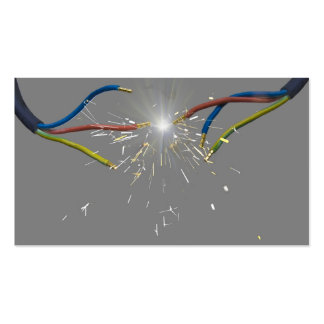 electrical spark business card