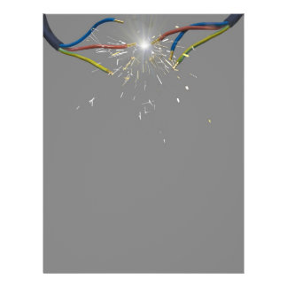 "electrical spark 8.5"" x 11"" flyer"