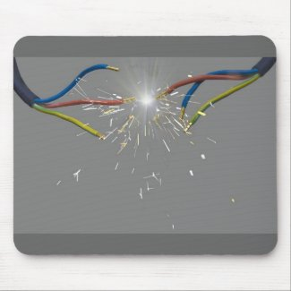 electrical spark mousepads