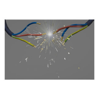 electrical spark poster