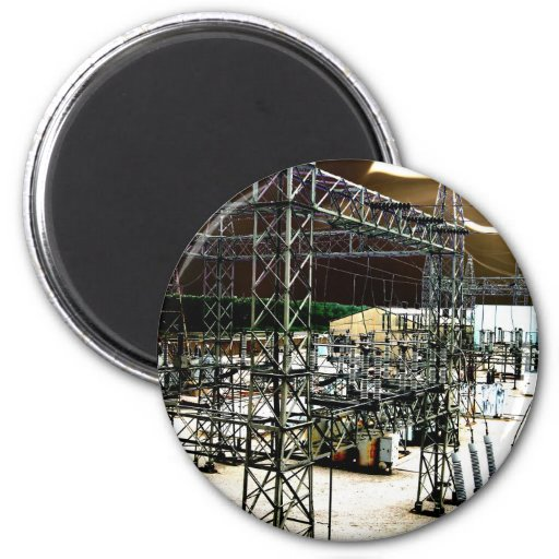 Electrical Surge 2 Inch Round Magnet