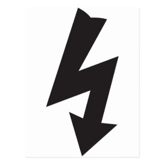Electrical Symbol thunder Electricity Postcard