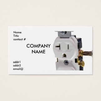 electrical wall outlet wiring business card