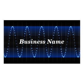 Electrical Wave Background Business Card Templates