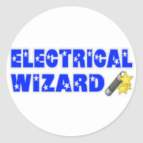 Electrical Wizard Classic Round Sticker