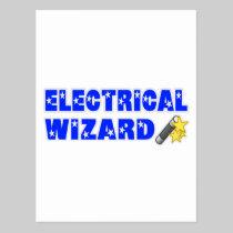 Electrical Wizard Postcard