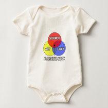 Electrical Work .. Science Art Luck Baby Bodysuit