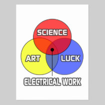 Electrical Work .. Science Art Luck Postcard