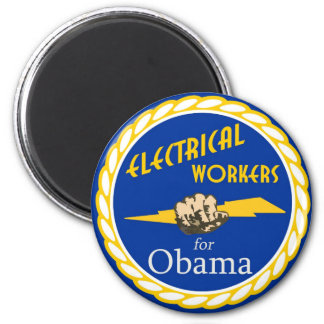 Electrical Workers United For Obama Magnets
