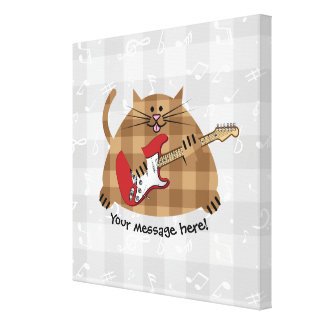 Electricat - Electric Guitar Kitty Musician Canvas Print