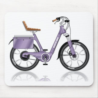 ElectricBicycleVectorDetailed Mouse Pad