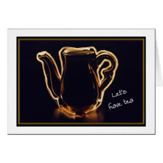 Electricfied Teapot, Let's Have Tea, Miss You Card