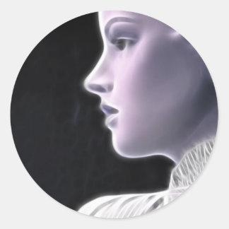 ElectricGirl 2 Round Sticker