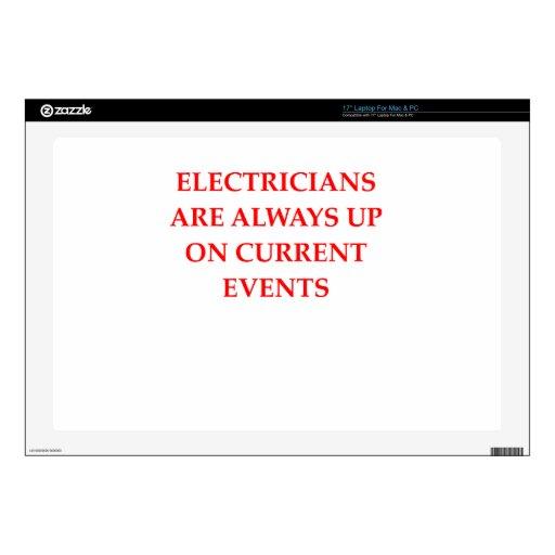 "electrician 17"" laptop skin"
