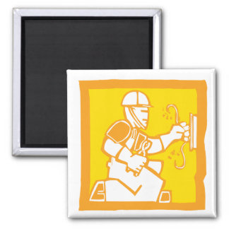 Electrician 2 Inch Square Magnet