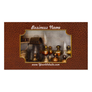 Electrician - A collection of oil lanterns .jpg Double-Sided Standard Business Cards (Pack Of 100)