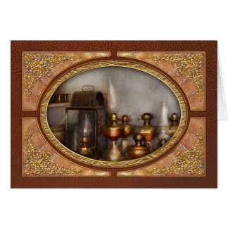 Electrician - A collection of oil lanterns .jpg Greeting Card