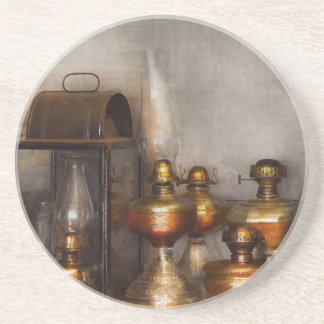 Electrician - A collection of oil lanterns .jpg Coaster