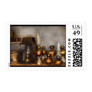 Electrician - A collection of oil lanterns .jpg Postage