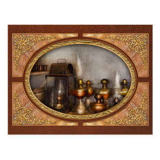 Electrician - A collection of oil lanterns .jpg Postcard