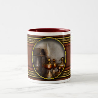 Electrician - A collection of oil lanterns .jpg Two-Tone Coffee Mug