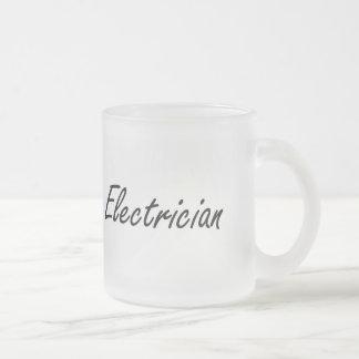 Electrician Artistic Job Design 10 Oz Frosted Glass Coffee Mug