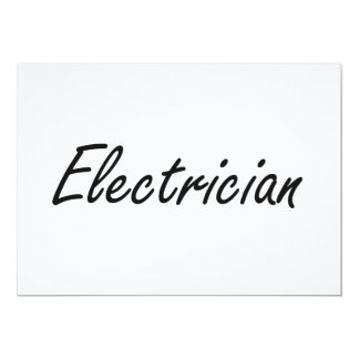 Electrician Artistic Job Design 5x7 Paper Invitation Card