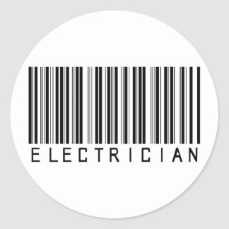 Electrician Bar Code Stickers