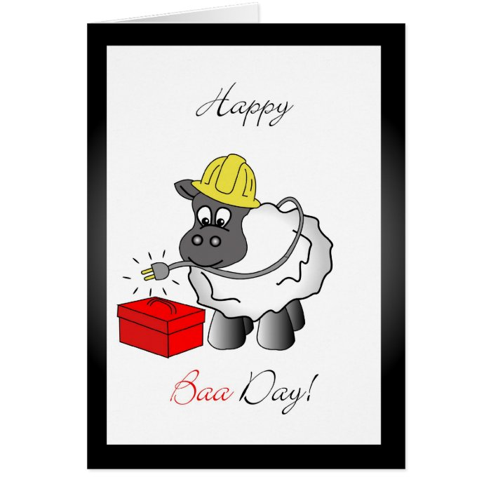 Electrician birthday greeting card