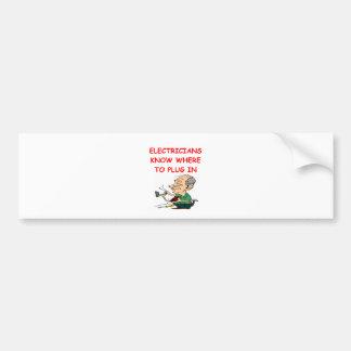 ELECTRICian Car Bumper Sticker