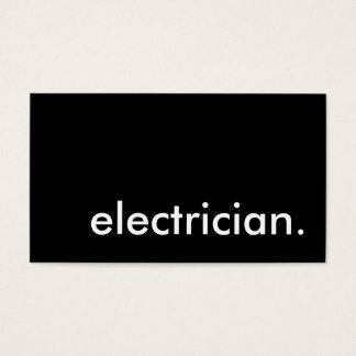 electrician. business card