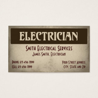 Electrical Contractor Business Cards Templates