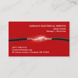 Electrician business cards templates zazzle electrician business card accmission Choice Image
