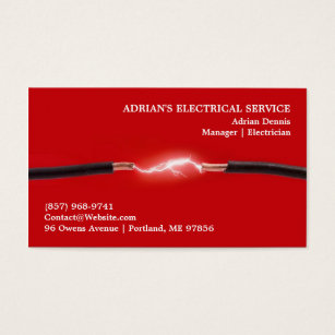 Electrician business cards templates zazzle electrician business card flashek Image collections