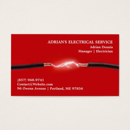 Electrical Business Cards Templates Zazzle