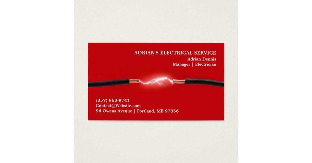 Electrician Business Card   Zazzle.com