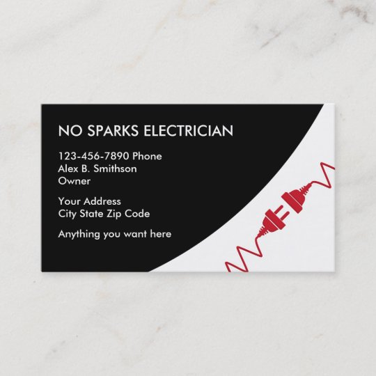 electrician business card - Electrician Business Cards