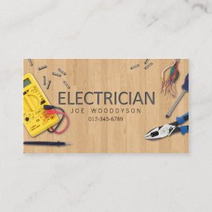 Electrical Contractor Business Cards Business Card Printing Zazzle