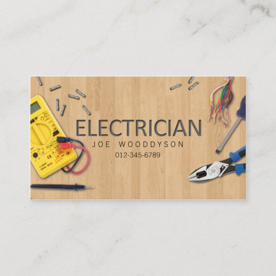 electrician business card electrical tools - Electrician Business Cards
