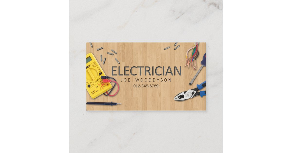 Electrician Business Card Electrical Tools | Zazzle.com