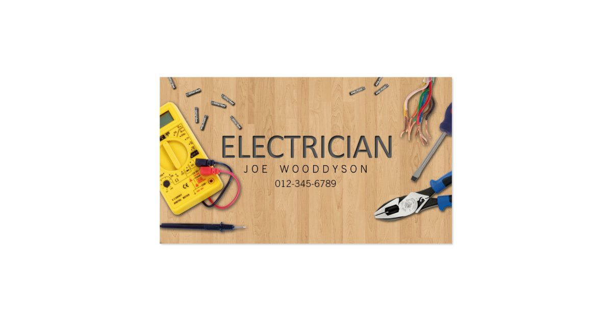 Electrician business card electrical tools zazzle for Electrician business card ideas
