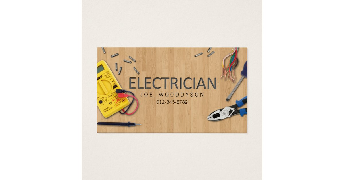 Electrical Business Cards & Templates | Zazzle