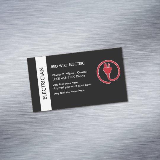 Electrician Business Card Magnet Zazzle.com