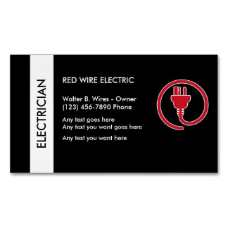 Electrician Business Card Magnet Magnetic Business Cards (Pack Of 25)