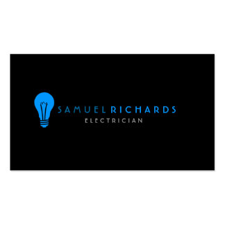 Electrician Business Card Simple Bulb Silhoutte